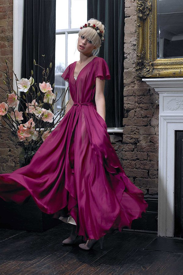 Cherry Williams London - Bridesmaid Dress, Raspberry