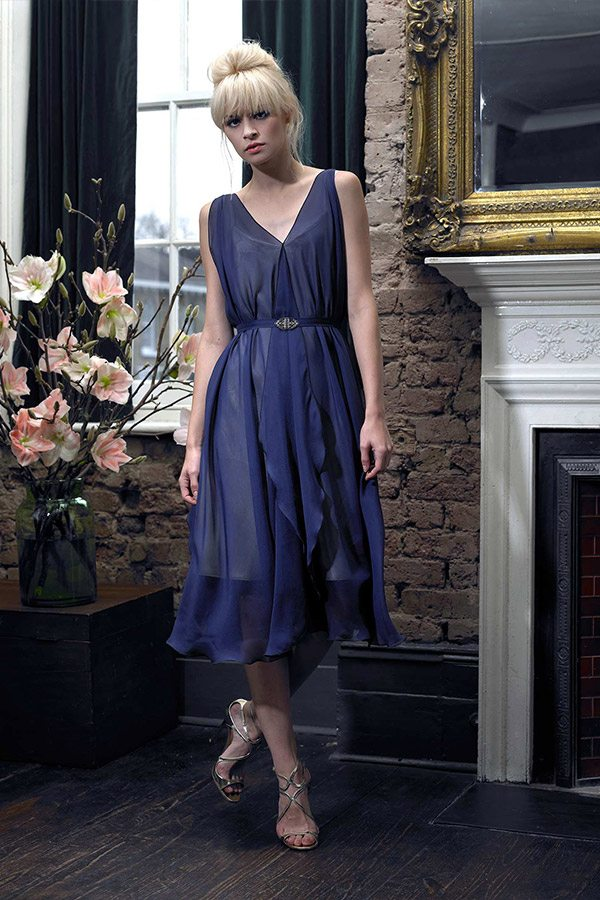 Cherry Williams London - Bridesmaid Dress, Indigo