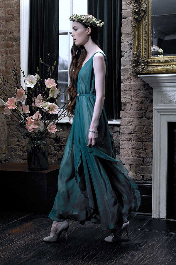 Cherry Williams London - Bridesmaid Dress, Forest Green