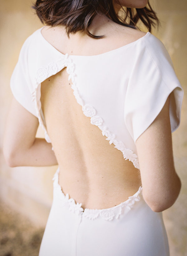 Audrey Wedding Dress, Back Detail - Cherry Williams, Bridalwear London