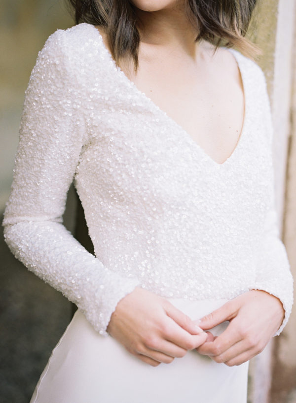 Ava Wedding Dress, Sequin Detail - Cherry Williams, Bridalwear London