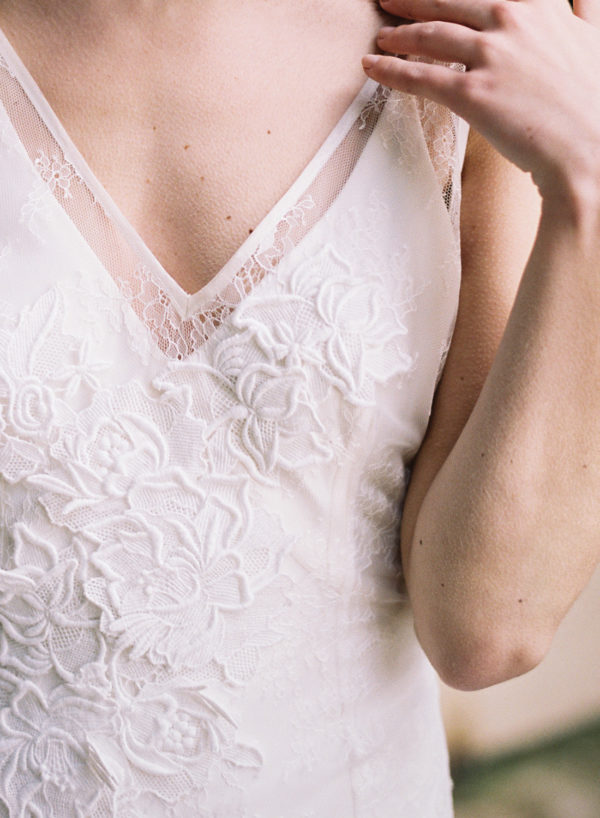 Gwen Wedding Dress, Lace Detail - Cherry Williams, Bridalwear London