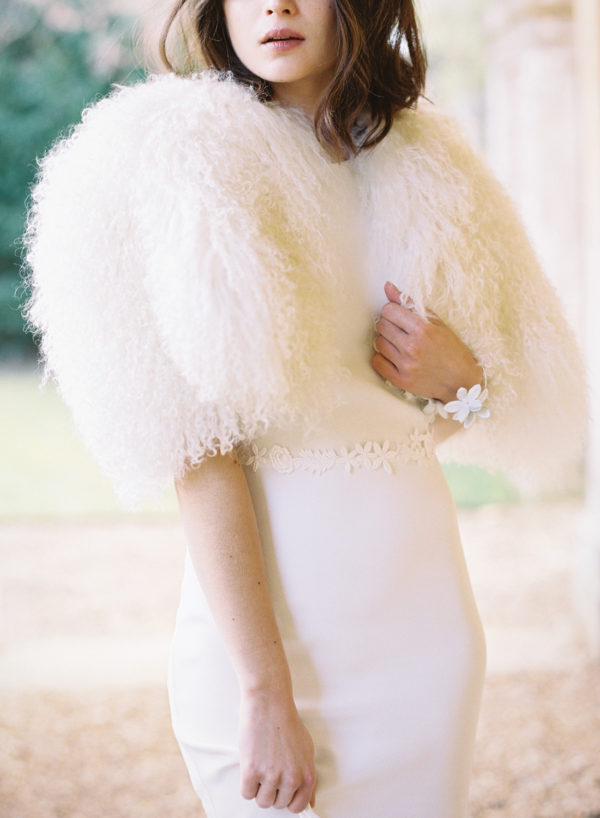 Lola Vintage Cape - Cherry Williams, Bridalwear London