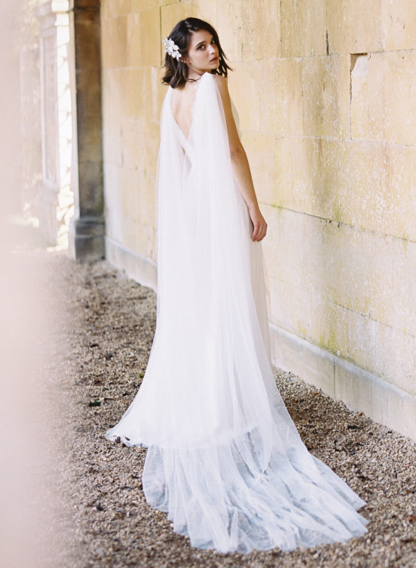 Ophelia Cape - Cherry Williams, Bridalwear London