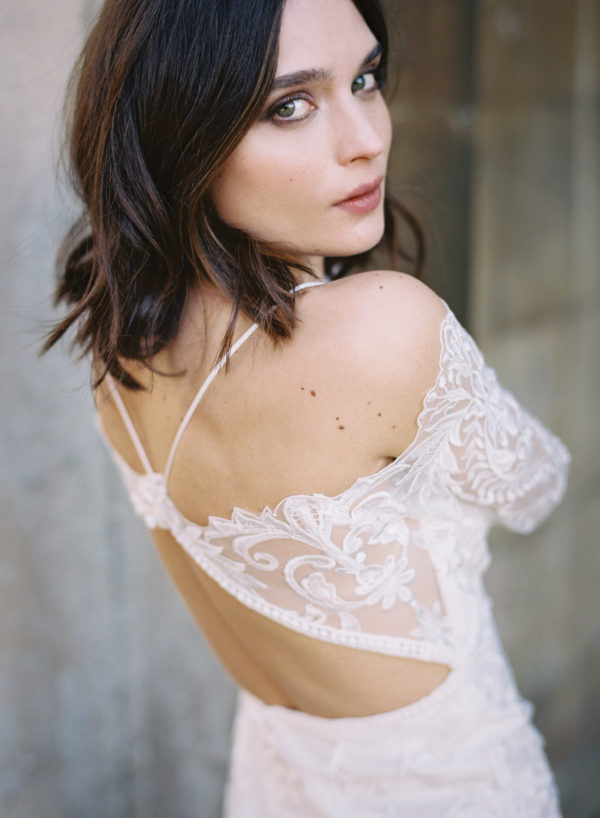 Wren Wedding Dress, Back Detail - Cherry Williams, Bridalwear London